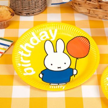 Miffy Birthday Party Plates - pack of 8